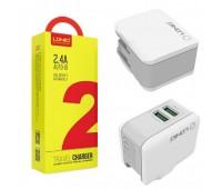 Сетевое зарядное A2203 LDNIO 2 USB 2.4A + кабель MICRO
