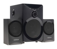 Nakatomi GS-25 BLACK - акустические колонки 2.1 USB+SD reader