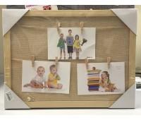 Фоторамка на холсте 30*40 деревянная рамка