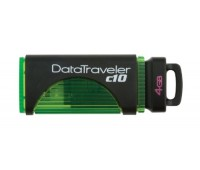 Накопитель USB 2.0 Kingston DTC 10 4GB black/green