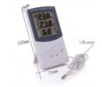 Электронный термометр ТА 318 (t0c, влажность, часы)вн. датчик t