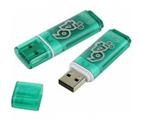 USB флэш-диск 64GB Smart Buy Glossy series Green