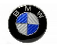 Эмблема на капот BMW Карбон 71,7 мм