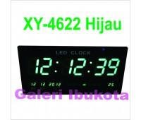 ЧАСЫ ЭЛЕКТРОННЫЕ НАСТЕННЫЕ XY-4622 темп,календарь,дата ,мелодия (LED GREEN)