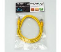 "Dialog CN-0110 yellow - патч-корд, 8P8C/RJ-45 ""папа"" x 2, длина 1.0 м"