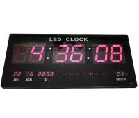 ЧАСЫ ЭЛЕКТРОННЫЕ НАСТЕННЫЕ XY-4622 темп,календарь,дата ,мелодия (LED RED)