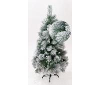 Елка искусственная с изморозью снегом на ветвях высота 1.2 м.