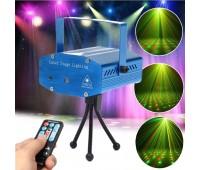 Лазерная мини-станция XL-066 Эфект стробоскопа 2-а цвета лазера