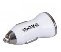 Автомобильное зарядное устройство USB адаптер ФАЗА iPF-1000USB-wh (бел.)