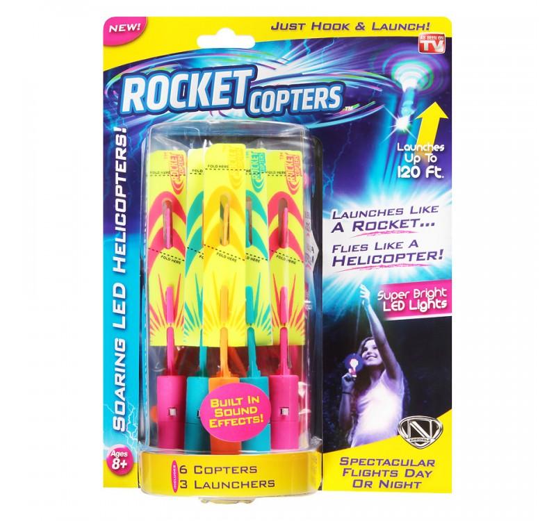 Купить светящиеся ракеты вертолеты Rocket Copters в Красноярске