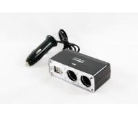Разветвитель KS-0030 2 гнезда + 2 USB1000мА Черный