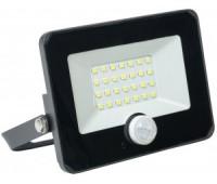 прожектор IEK св/д СДО 06-20Д 20W(1800lm) 6500K 6K с датчиком движ