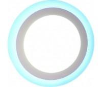 Светильник LEEK св-к св/д встр. 16W(720lm) 3K/6K подсветка голубой круг