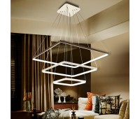 Светодиодная подвесная LED люстра три квадрата