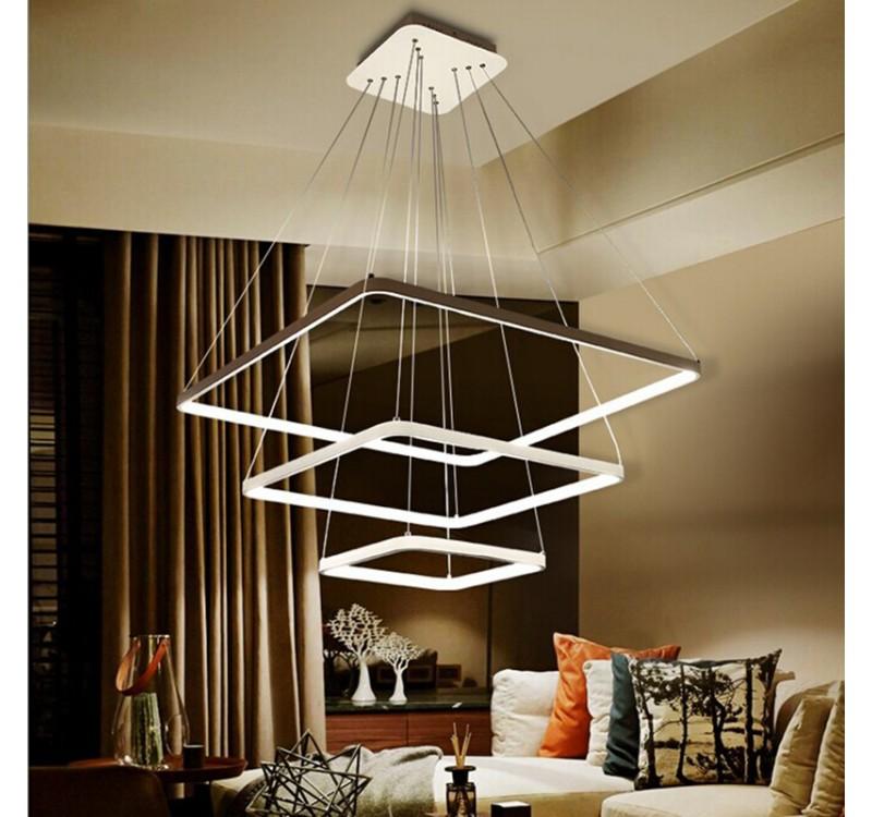 Светодиодная подвесная LED люстра три квадрата в категории Электросветильники люстры торшеры