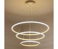 Светодиодная подвесная LED люстра три кольца