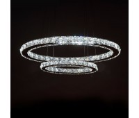 """Светодиодная подвесная LED люстра """"хрусталь"""" два овала"""