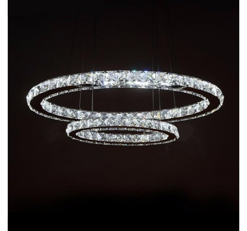 """Светодиодная подвесная LED люстра """"хрусталь"""" два овала в категории Электросветильники люстры торшеры"""